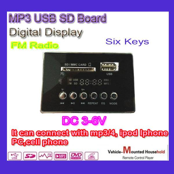 USB SD FM Panel module