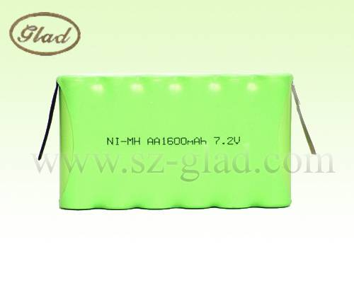 AA ni-mh rechargeable battery pack aa 3.6v 1600mah