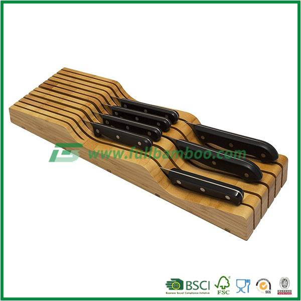 Magnetic Knife Block / Bamboo Block With Stainless Steel, High Quality Bamboo Knife Block Universal