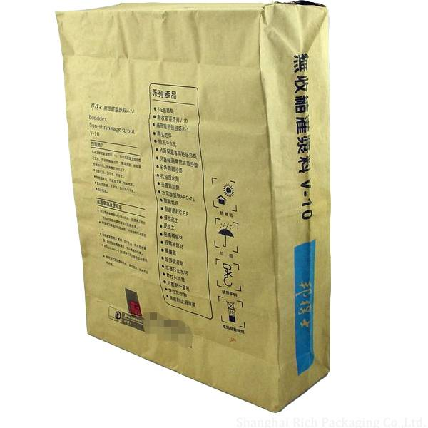 30kg brown kraft paper cement bags