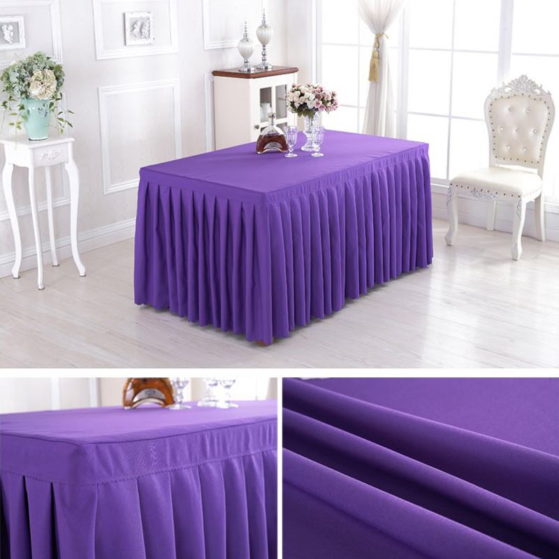 Wholesale Layered Cheap Fabric Table Skirts