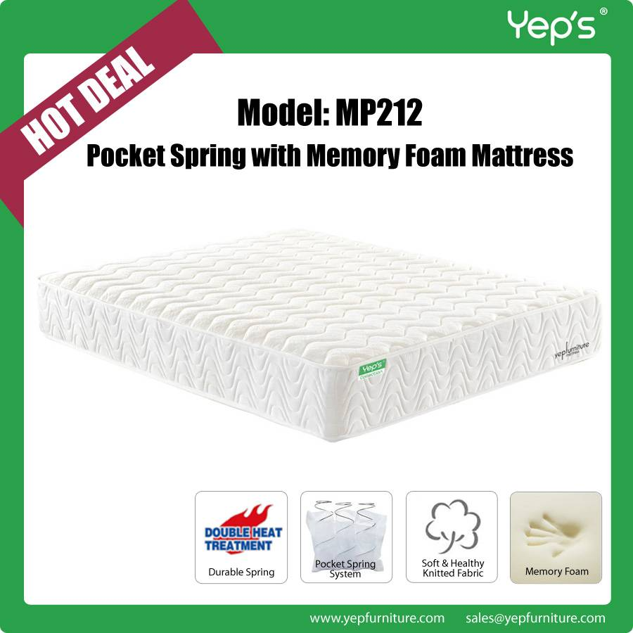 Popular Pocket Spring with Memory Foam Mattress