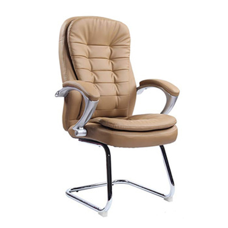 Bow Base PU Leather Office Chair Computer Meeting Room Chair