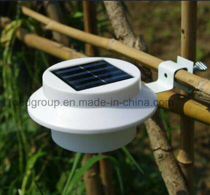Outdoor Proof Solar Powered Fence Gutter LED Light Wall Solar Fence Light From China