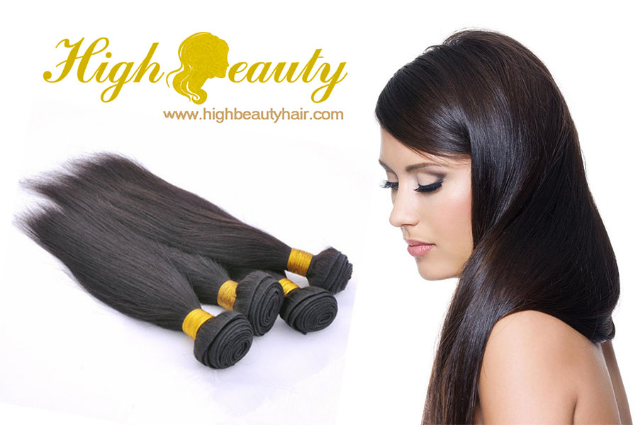 High quality grade Peruvian/Brazilian Hair Straight No Tangle No Chemical