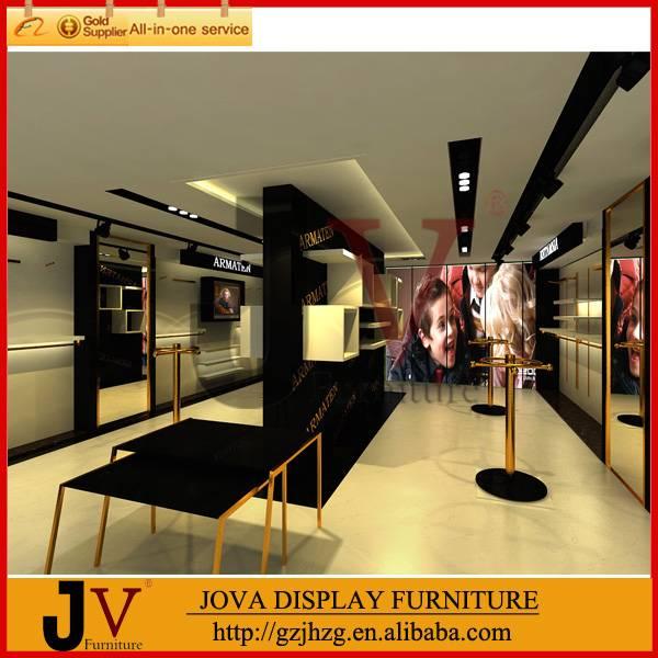 Hot kids clothes shop decoration design furniture display