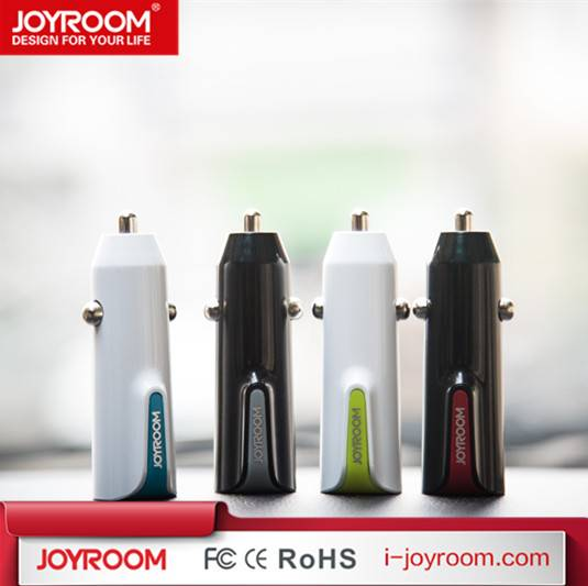 JOYROOM hot sell dual high speed car charger usb 5V 2.4A quick car charger