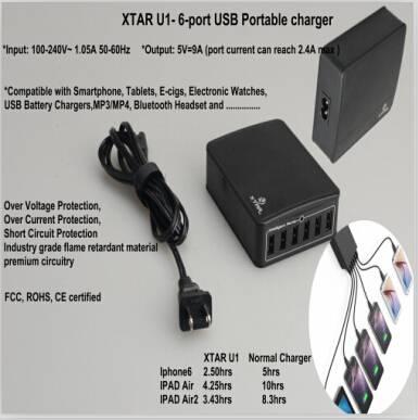 xtar six port usb charger