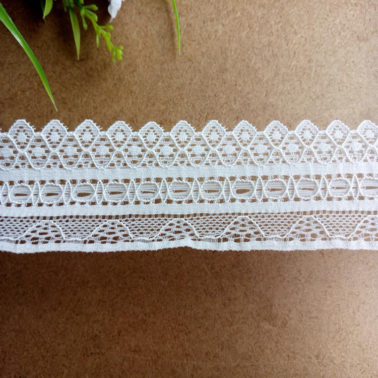 Elastic nylon lace trim 3.7cm EL018