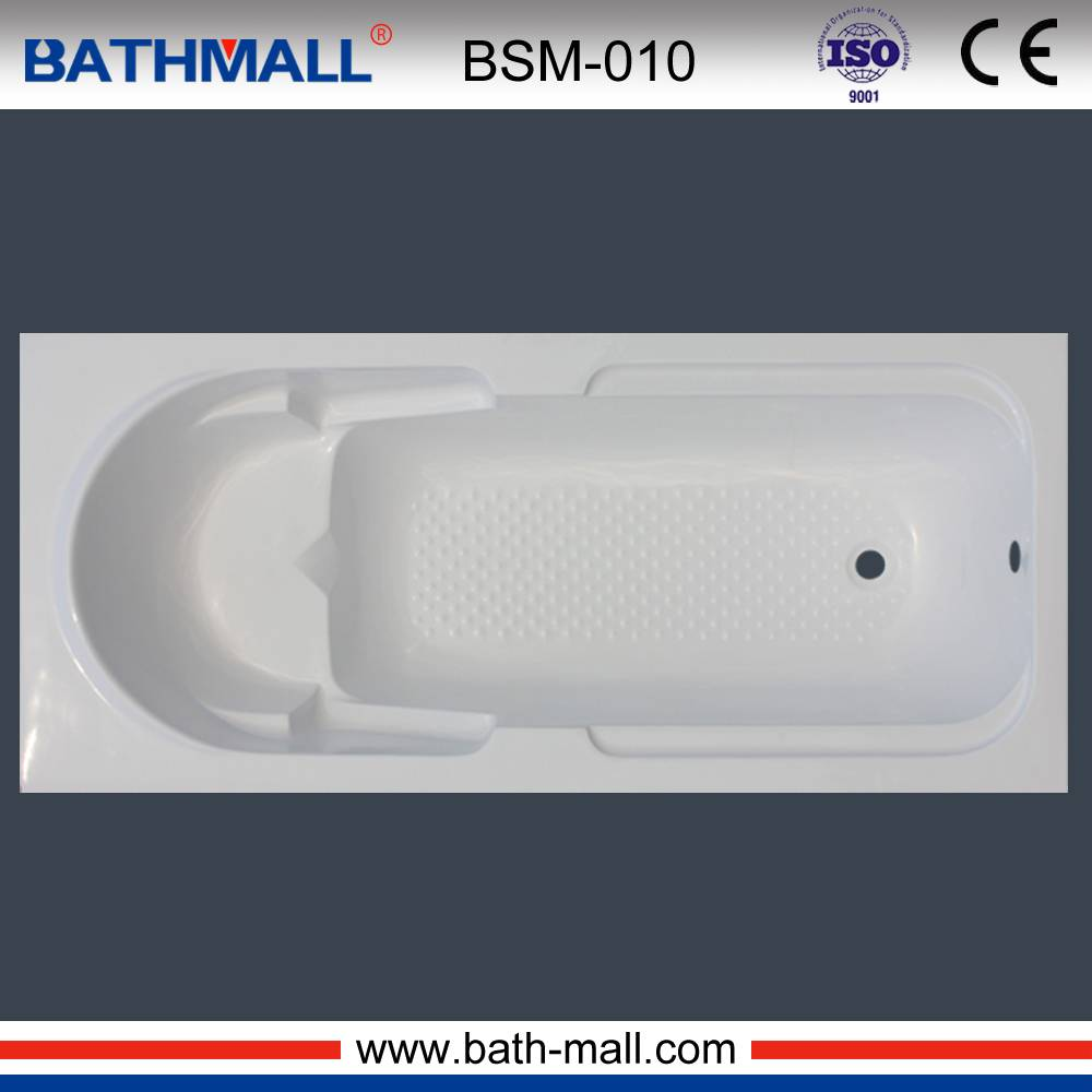 Drop in acrylic fiberglass bathtub for European