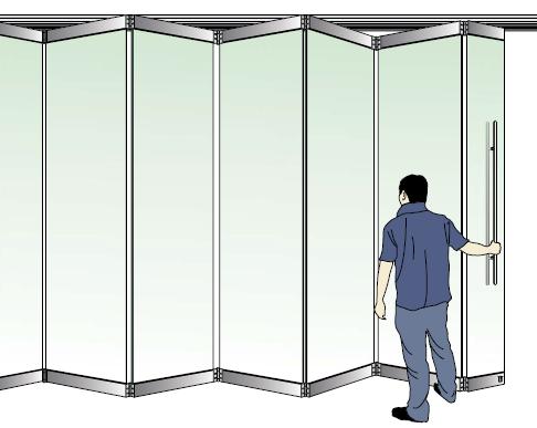 Tempered Glass Sliding Folding Aluminium Door Fix Fittings Made In