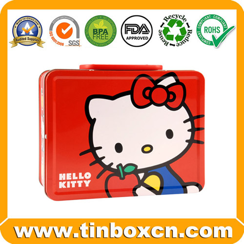 Lunch Tin,Lunch Box,Tin Lunch Box,Tin Box with Handle