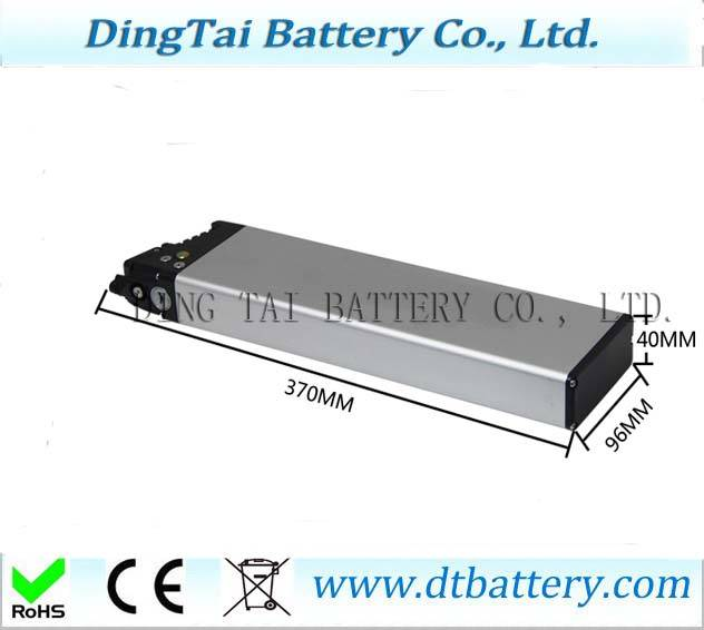 36V 10.4Ah 250w 350w li-ion battery with professional charger for foldable ebike