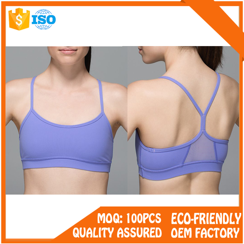 comfortable light support removable pads strappy back wire free sport bra