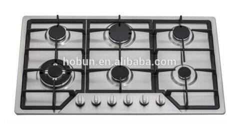 Professional OEM 6 burners Gas Cooktop, gas cooktop 6 burners