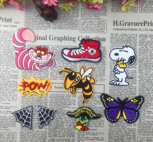 Honey butterfly lovely dog hand made embroidery badges
