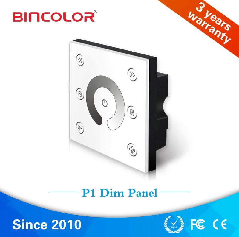 P1-010v Bincolor 86-style led 0-10V signal touch panel dimmer 2 channels