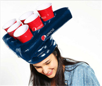 inflatable hat for fun, inflatable cap holder, inflatable hat holder