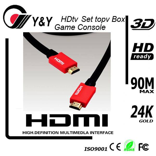 Support 3D,3 foot HDMI 1.4 Cable