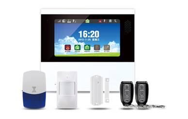 7 inch LCD touch screen wireless alarm system