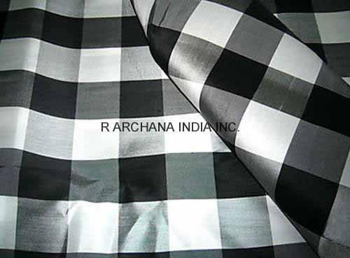 Checks Stripes Taffeta Silk Fabric