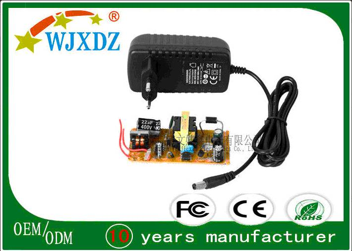 Light Weight Efficient AC To DC Adapter 24W 2A , AC DC Adapter Power Supply
