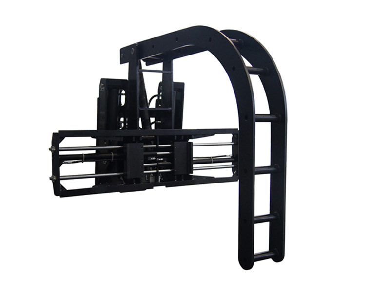 Forklift attachment steel pipe clamp