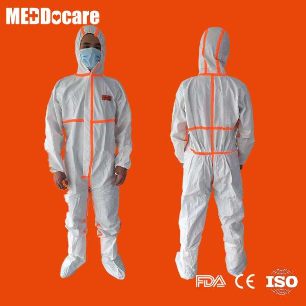 dispsoable chemical resistant protective coverall