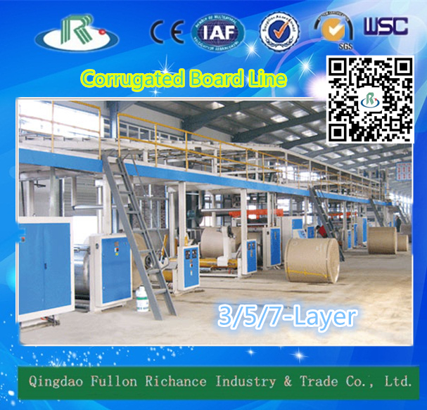 3-Layer Corrugated Cardboard Production Line