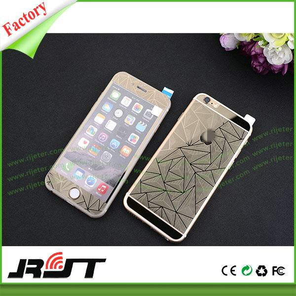 9h 3D Color Mirror Tempered Glass Screen Protector for iPhone 6 6s