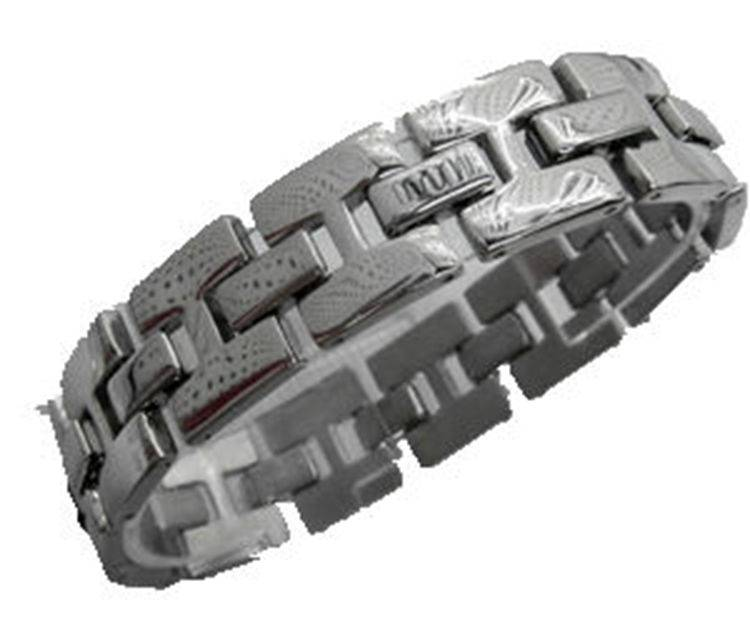 man jewelry stainless steel bracelet white