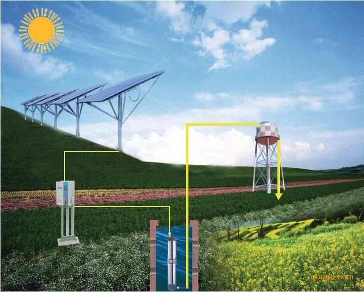 dc solar well pump deep pump solar system