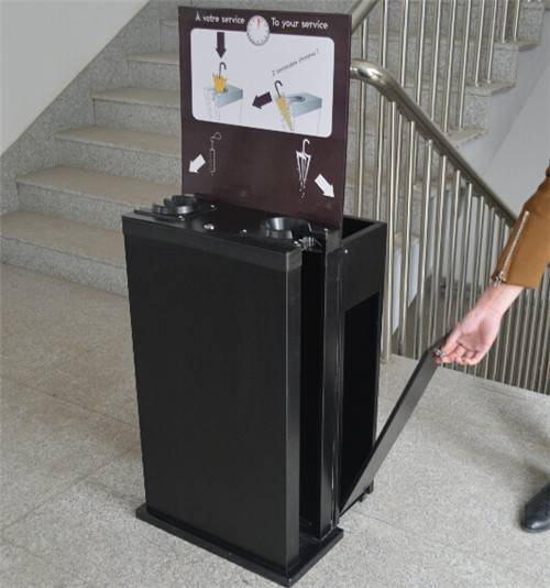 customized garbage can type Wet umbrella Wrapping machine for Lafayette