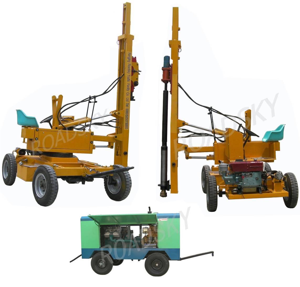 Highway Guardrail Pile Driver Machine