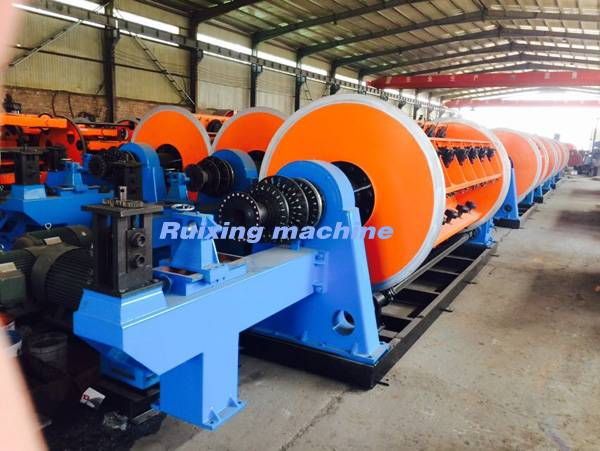 Stranded steel wire rope machines