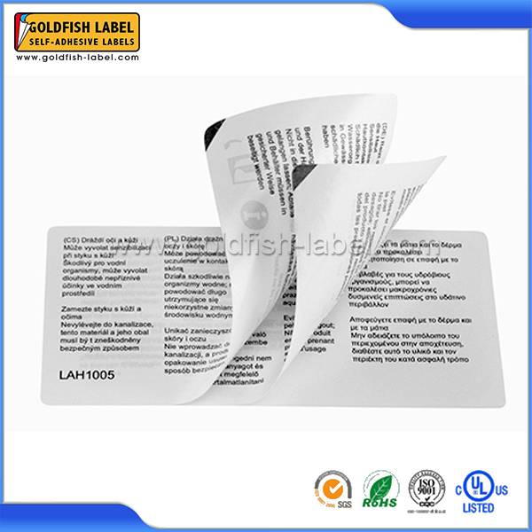 Multi-layer label sticker&foldout label in China