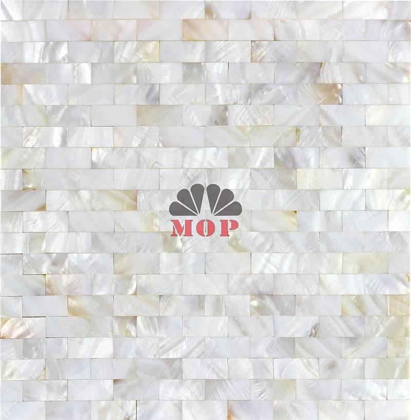 wall design tile shell mosaic bars