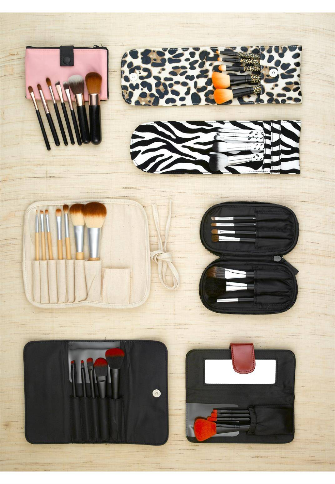 Professional Wood Makeup Brush Set Foundation Brushes Makeup Brushes Synthetic hair brush with gift