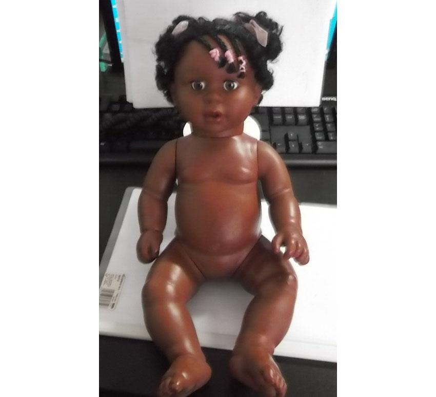 Plastic ECO-PVC Fashion black girl doll