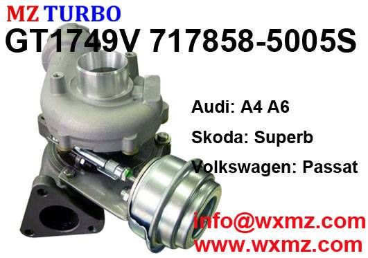 GT1749V 717858-5005S turbocharger suit for Audi Skoda Volkswagen AVF/AWX TDI 1.9L 2.0L