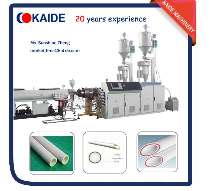 Three layer PPR glassfiber PPR composite pipe making machine