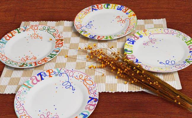 Ceramic Plates printed ceramic dishes in various size