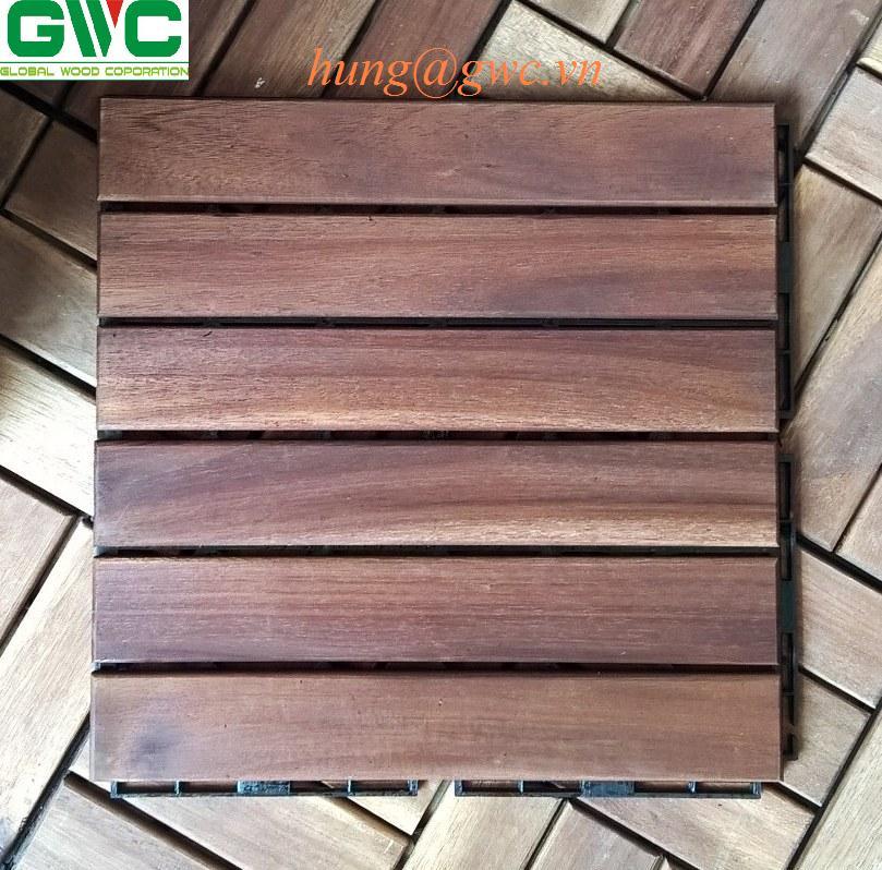 Wood Interlocking Deck Tile from Vietnam
