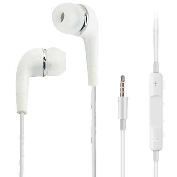 Earphone Headset Volume Control With Microphone For Computer