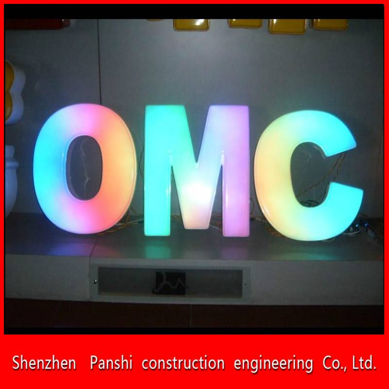Acrylic outdoor light up letters / lighted sign letters / led letter lights sign