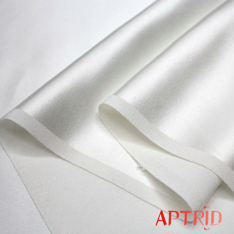 Dyed 100% Silk Crepe Stain Fabric