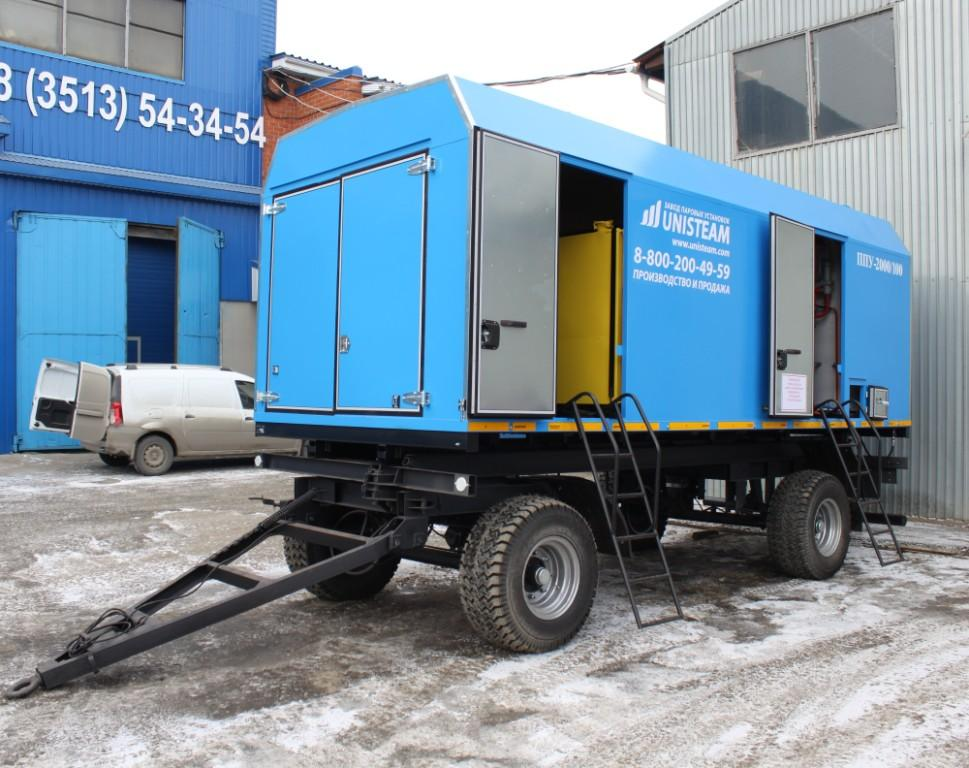 UNISTEAM-MPD 1600/100 Portable Industrial steam unit with diesel generator compartment