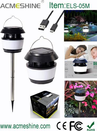 Ultra Bright Led Solar Garden Lamp with Mosquito Repellent