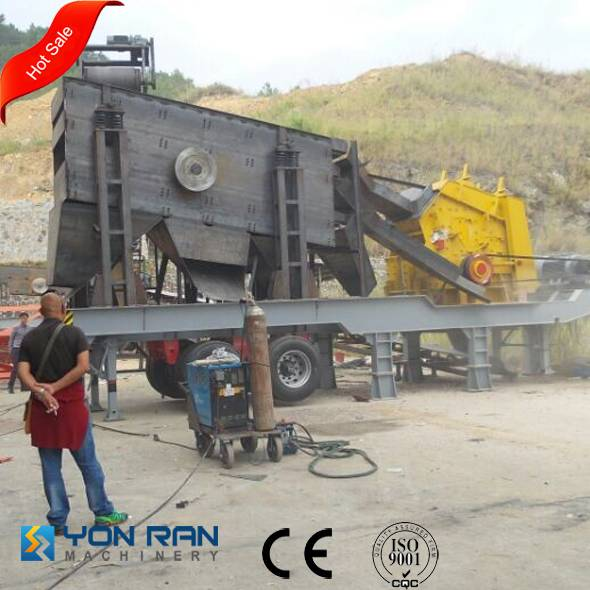 china made 17years manufacturer portable stone crusher with CE ISO certificate