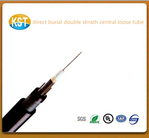 Direct Burial Outdoor Cable/Armored and Sheathed Double Central Loose tube Cable good cable